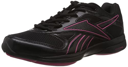 59a1779f1d05c Image Unavailable. Image not available for. Colour  Reebok Classics Women s  Easytone Reevitalize Black and Pink Nordic Walking Shoes - 6 UK