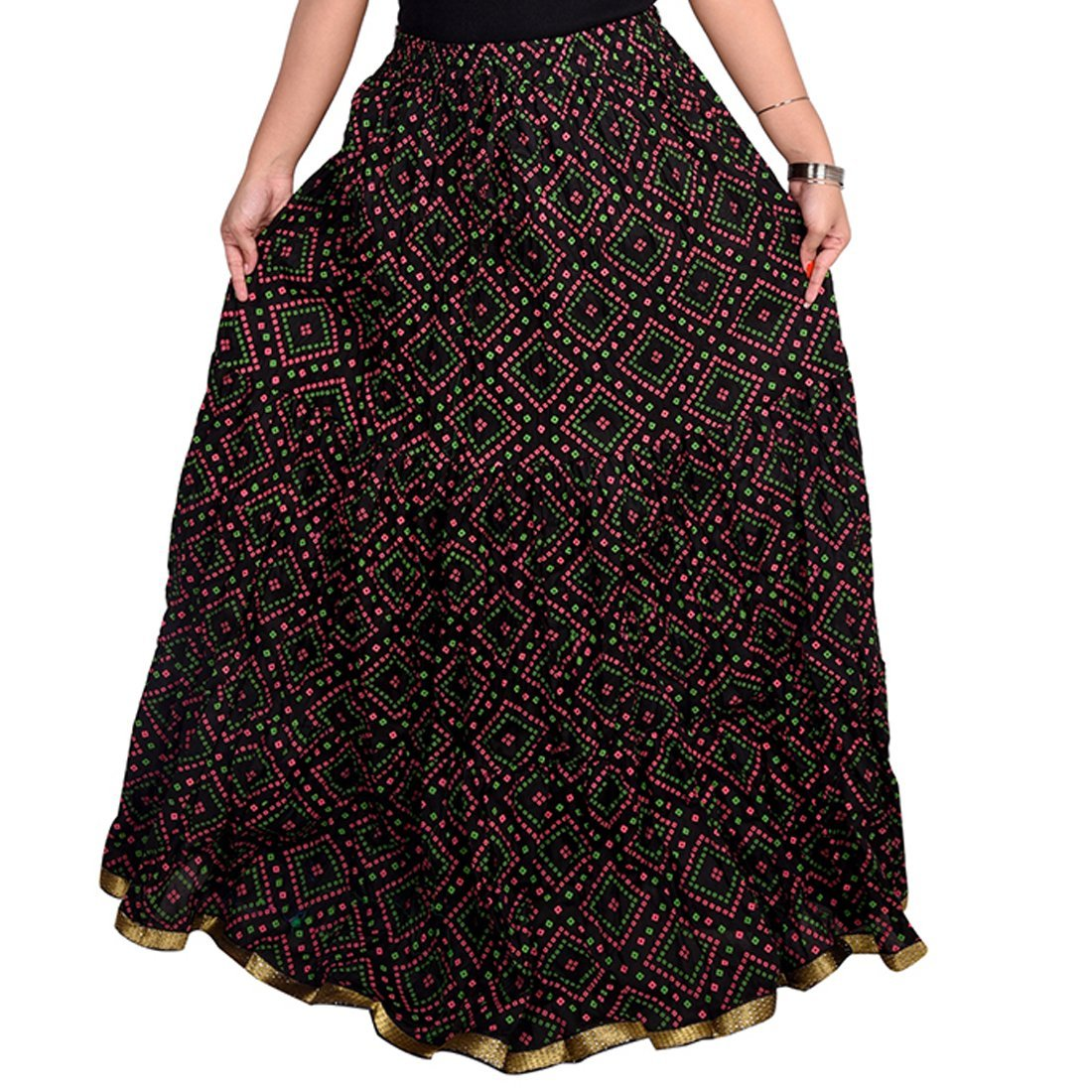 Decot Paradise Women's Cotton Print Skirt (Black)