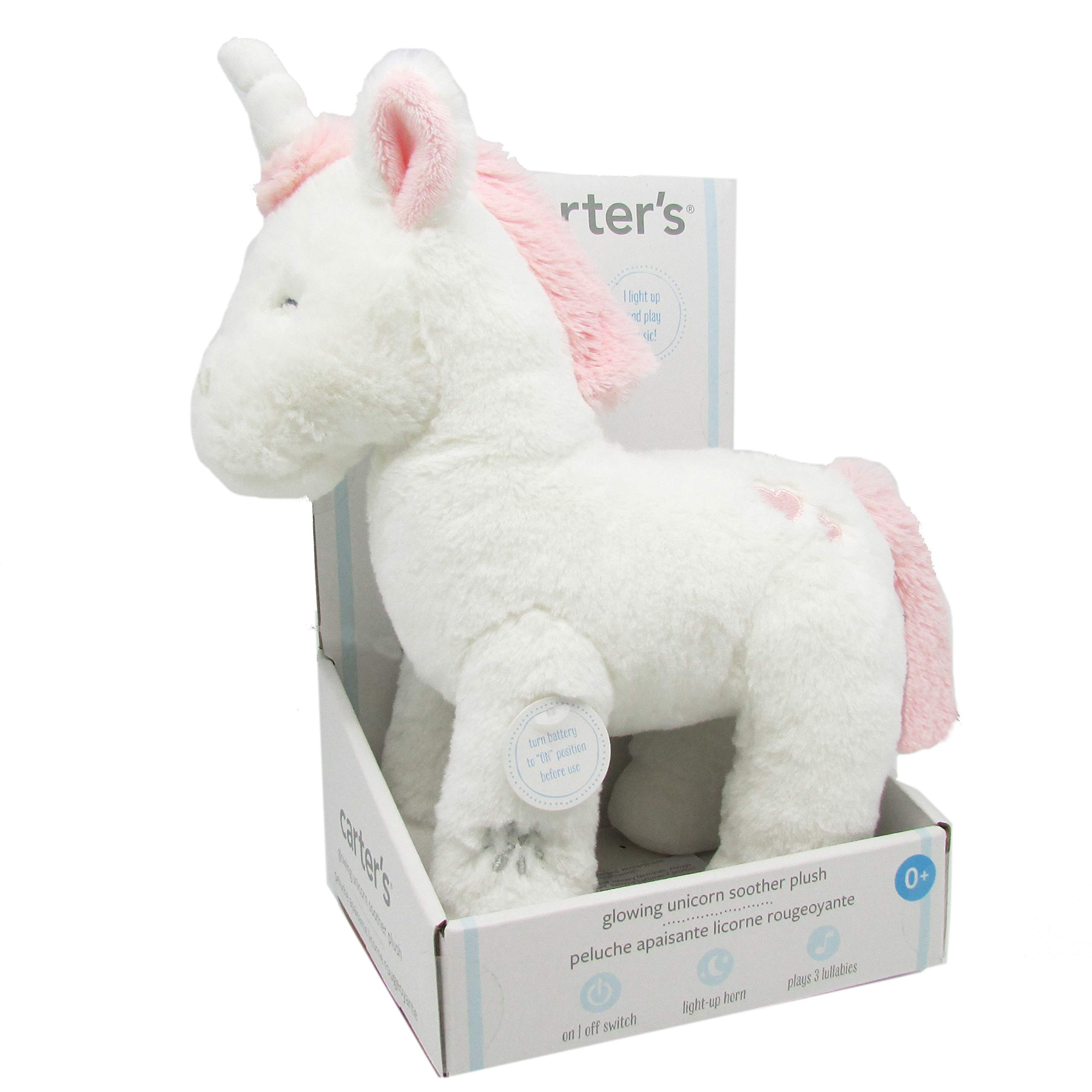 Carter's Unicorn Soother Plush with Music & Glowing Horn