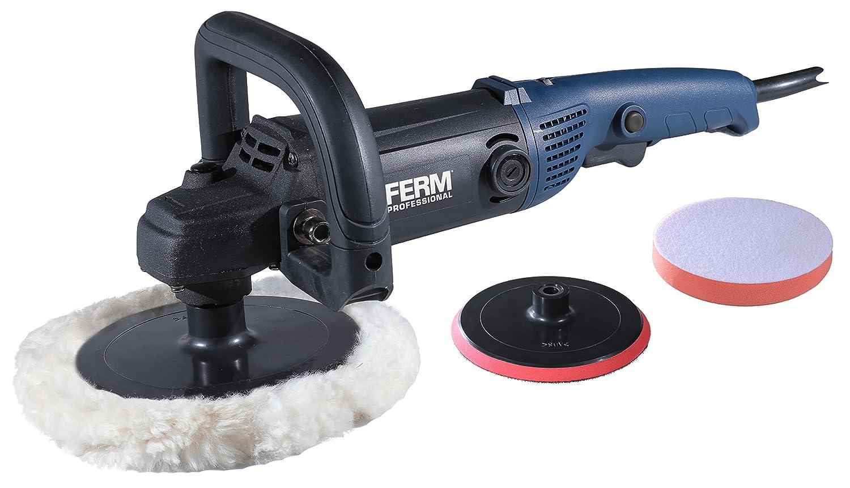 FERM Profi Winkelpolierer 1400W – 180mm – Mit Softgriff – Inkl. Umfangreiches Accessoires und Zubehör AGM1084P