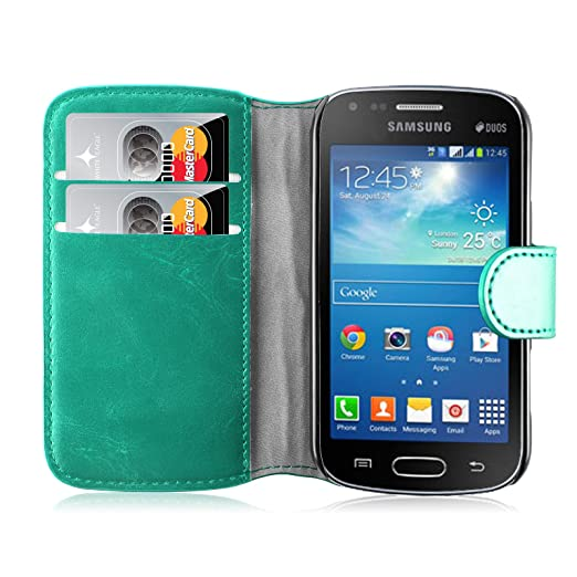 194 opinioni per Cover Galaxy Trend Plus, JAMMYLIZARD Custodia Retro Wallet a Libro in Pelle per