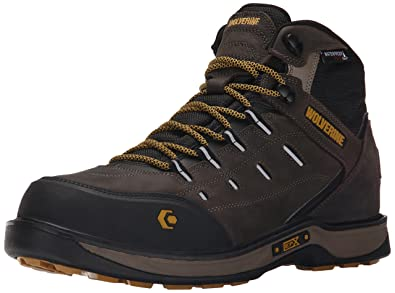 Wolverine Men's Edge LX Nano Toe Work Boot, Taupe/Yellow, ...