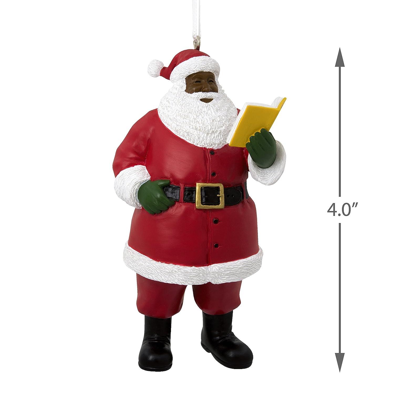 Amazon.com: Hallmark Mahogany Christmas Ornament Santa: Kitchen & Dining