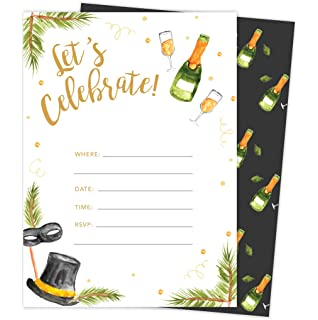 new years eve 3 holiday season party gathering invitations invite cards 25 count