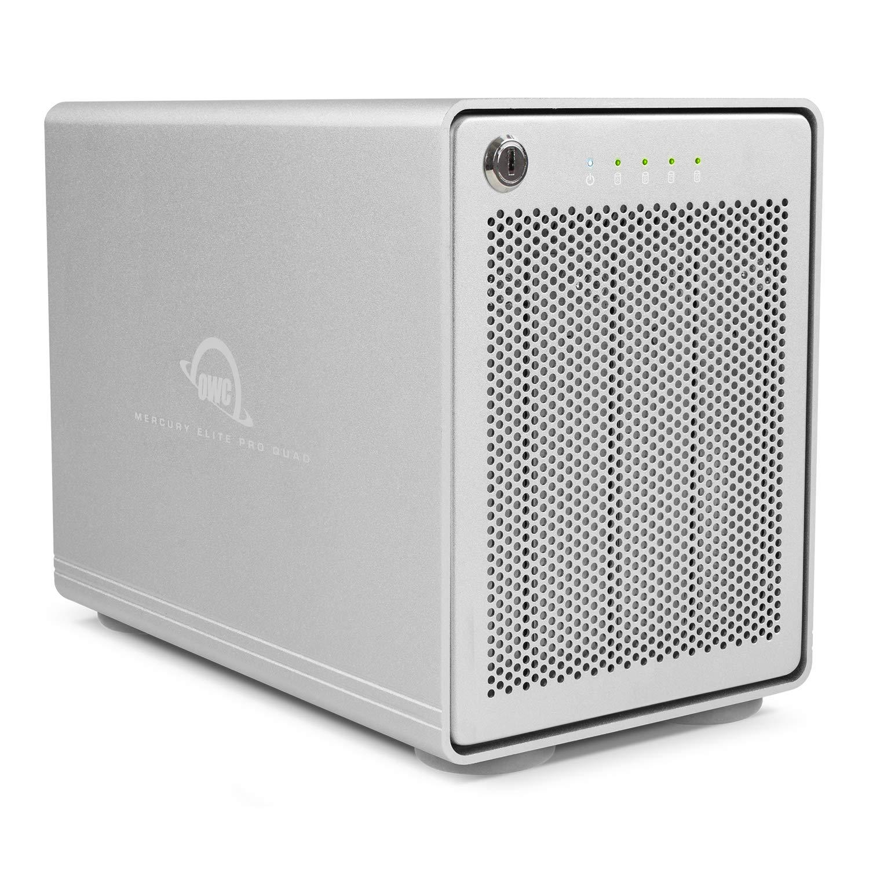 【国内正規品】OWC Mercury Elite Pro Quad (OWC マーキュリー エリート プロ クワッド) 4ドライブベイ / USB 3.1 Gen 2 / RAID 0,1 (40.0TB) B07MQ54465  48.0TB 48.0TB