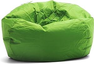 """Big Joe Classic 98 Bean Bag Chair, 33""""L x 33""""W x 20""""H, Spicy Lime"""