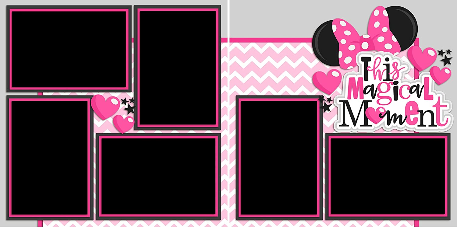 THIS MAGICAL MOMENT PINK EZ Layout 2234 Premade Scrapbook Pages