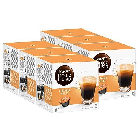 Nescafé Dolce Gusto Caffè Lungo suave, Paquete de 6, 6 x 16 Cápsulas