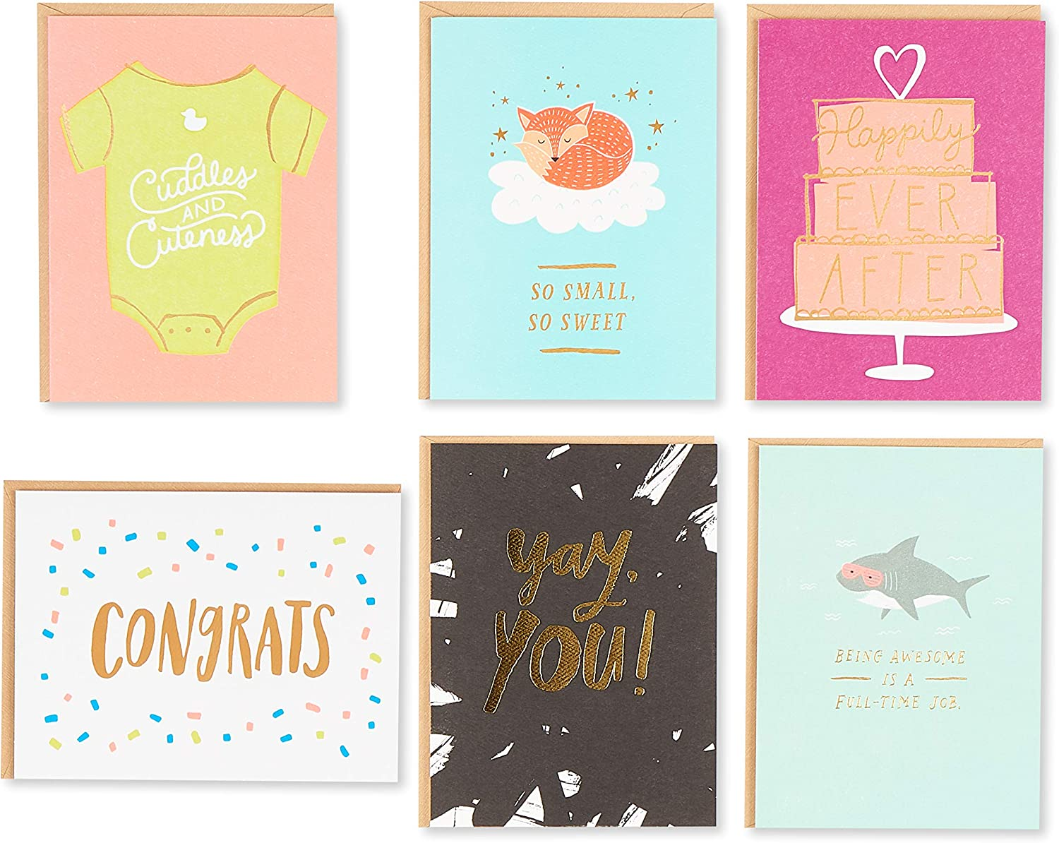 Wedding 24-Count Birthday Congrats Baby American Greetings Premium All Occasion Cards Thank You