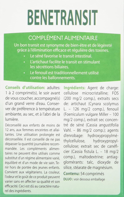 Ortis Benetransit Complement Alimentaire 54 Comprimes Amazon Fr