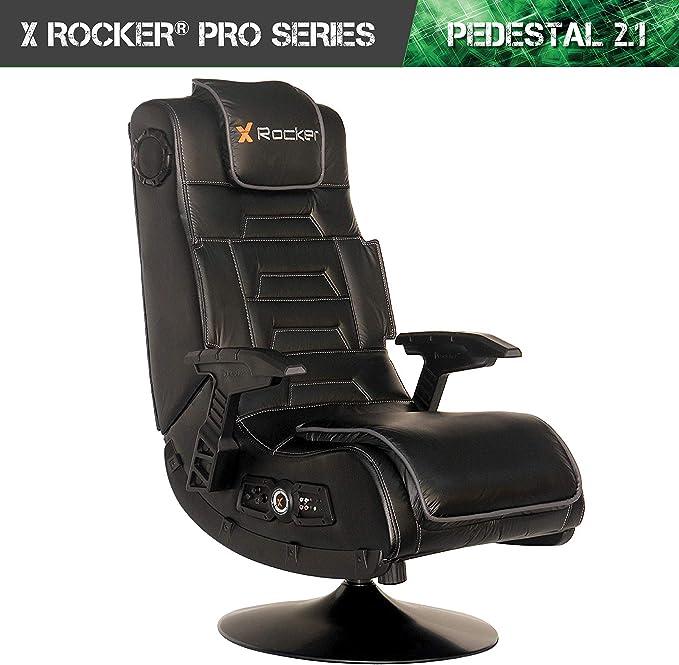 X-Rocker Play Pad Jr 2.0 Stereo Audio Mid-Back Floor Rocker for Multi-media