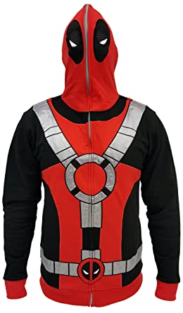 Marvel Deadpool traje adulto disfraz de con cremallera Sudadera ...