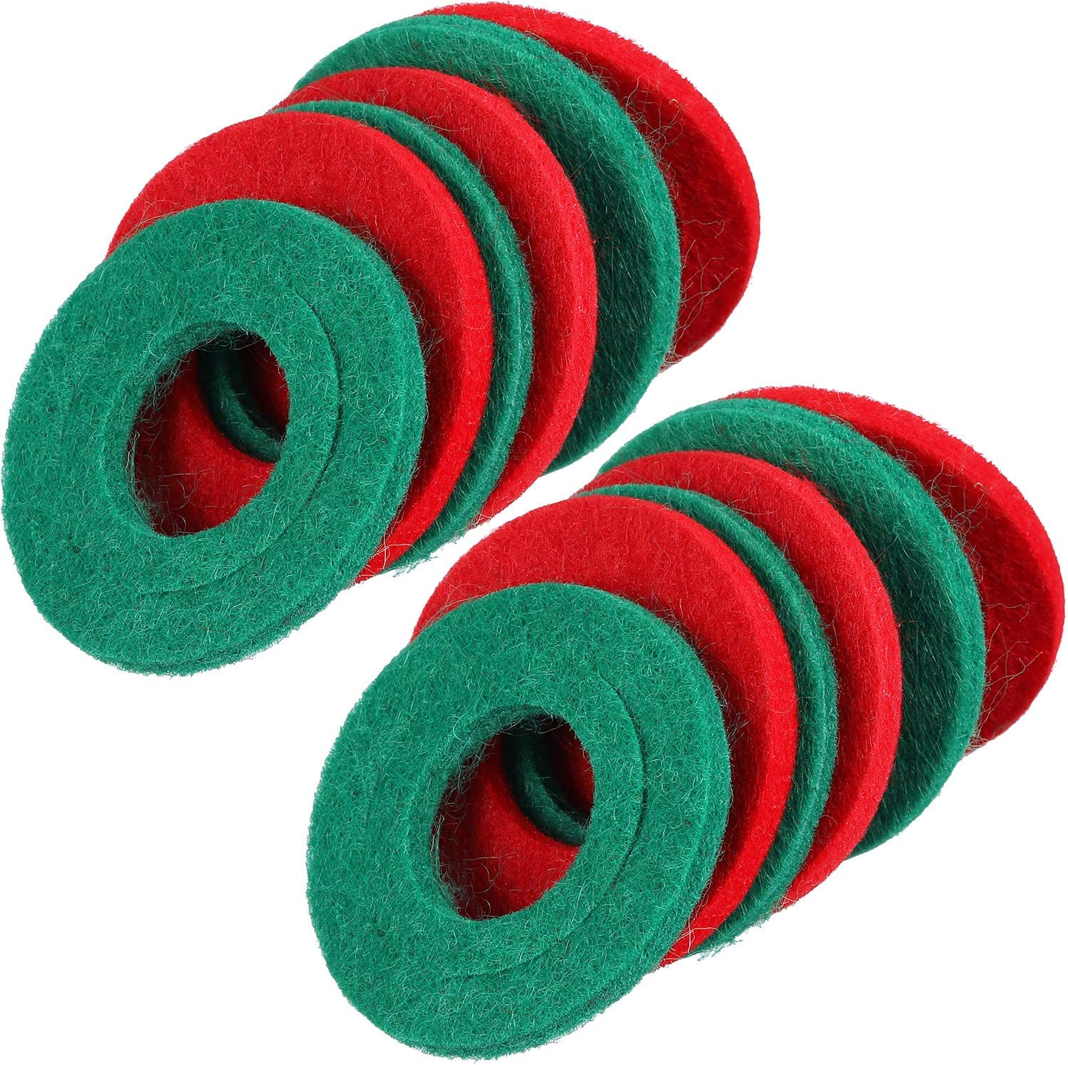 12 Pieces Battery Terminal Anti Corrosion Washers Fiber Battery Terminal Protector, 6 Red and 6 Green: Automotive