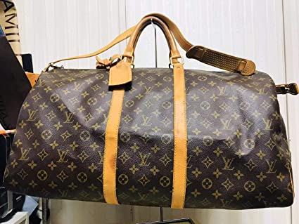 8bce62f1e963 Amazon.com  Louis Vuitton monogram canvas Keepall 55 Luggage M41414   Everything Else