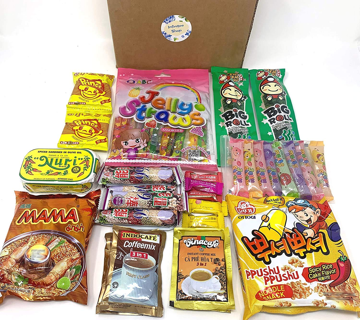 International Asian Delicious Snacks (30 Count) - Variety Assortment of Mixed Asian Food