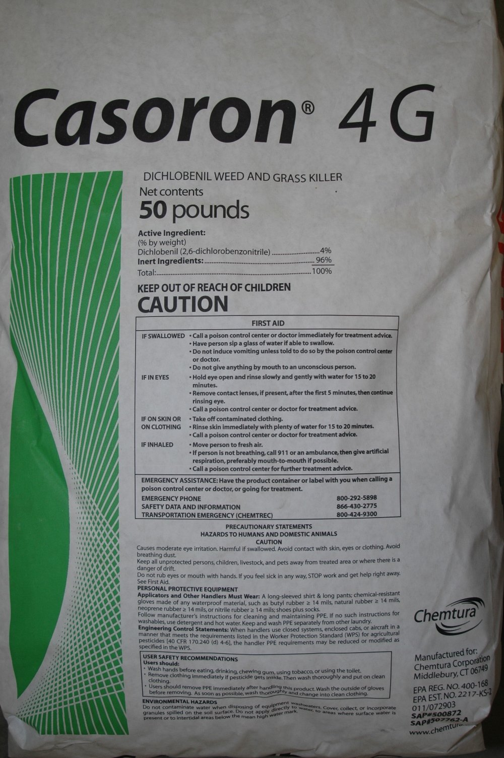 Casoron 4G (50 Pound bag) Mulch Bed Weed Inhibitor