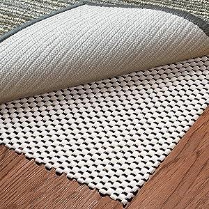 Aurrako Non Slip Rug Pads 2x3 Ft Extra Thick Gripper for Hardwood Floors,Rug Gripper for Carpeted Vinyl Tile and Any Hard Surface Floors Under Area Rugs,Runner Anti Slip Non Skid Carpet Mat (2'x3')