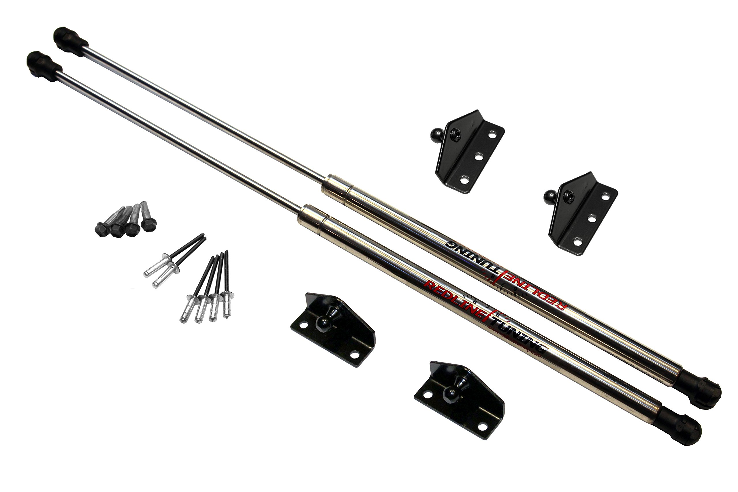 Redline Tuning 21-11020-03 Ford Ranger Hood QuickLIFT ELITE System - Struts Stainless Steel & Compatible With All Hoods