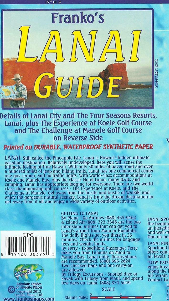 Download Lanai Hawaii Adventure Guide Franko Maps Waterproof Map PDF ePub ebook