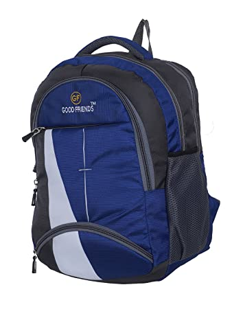 5fcf565a362 Good Friend Fabric 30 Ltr Blue School Bag  Amazon.in  Bags