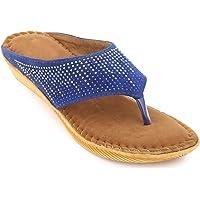 Midsole Women Velvet Slip-on Embellished Casual Flats - FT6051C
