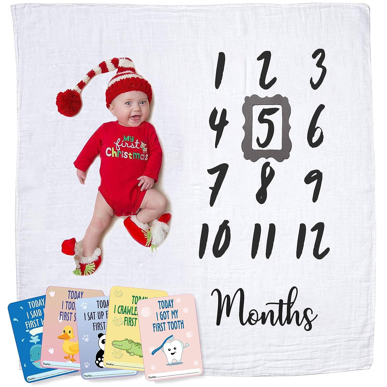 Amazon.com  Baby Monthly Milestone Blanket  badce6779