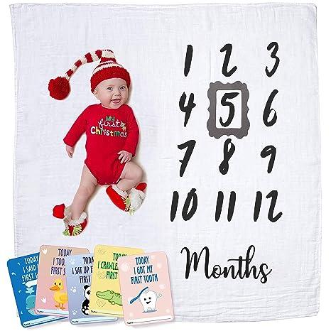 Amazon.com: Manta de muselina de algodón para bebés y bebés ...