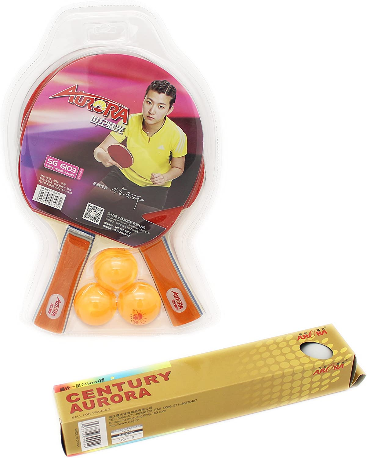 Rackets and Balls SAHE PRODUCTS Authentic Table Tennis Paddles Fun-sports Professional Racket - Rubber Coated Wooden Ping Pong Bat Athlete Experts Unisex Table Tennis Set Blue