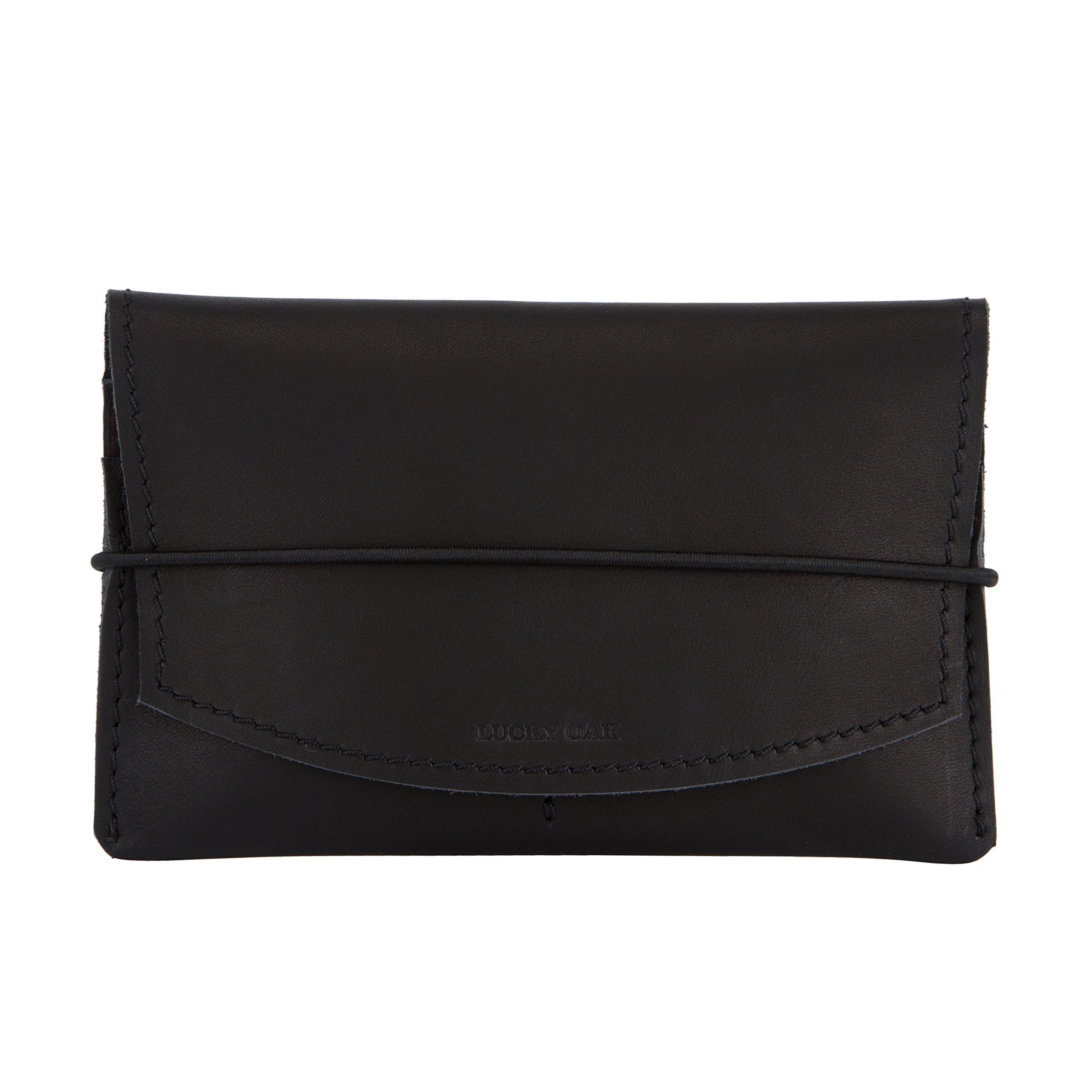 Leather Passport Holder – Travel Wallet Cover Case for Men & Women (organizer, black vintage)