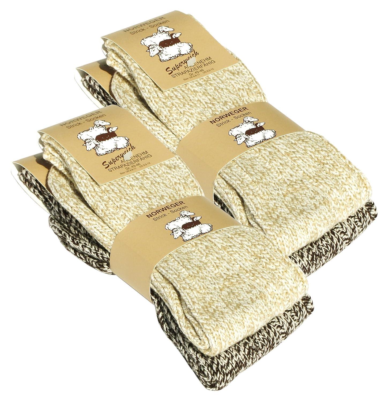 Juego de 2 pares de calcetines norvégiennes (- Calcetines de lana), tejer de los calcetines. Para los hombres y las mujeres.: Amazon.es: Ropa y accesorios