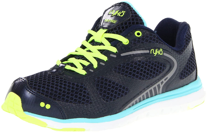 Rykä Aspire Damen Fitness Schuhe Sport Schuhe Trainingsschuhe blau/ gelb