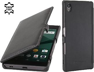 StilGut Book Type Case con Clip, custodia in pelle per Sony Xperia Z5 & Sony Xperia Z5 Dual, nero nappa
