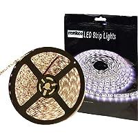 Renkco LED Strip Lights, Warm White 5050 SMD, IP65 Waterproof 5m 12V Flexible DIY 300 LEDs Bright LED Strip Light…