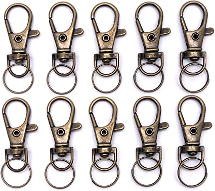 Swivel Snap Cord Clip in Dark Brown Add Key Ring  Solid Brass Hardware  Solid Iron Key Ring  Wickett /& Craig English Bridle Leather