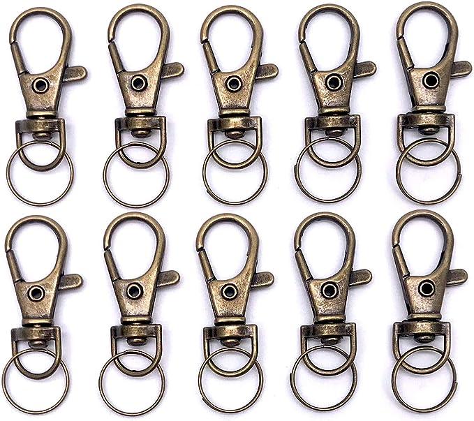 9mm Swivel hook 10pcs silver Swivel Snap Hook Metal Lobster Clasp Lanyard Hook Bag Hardware Chain Connector