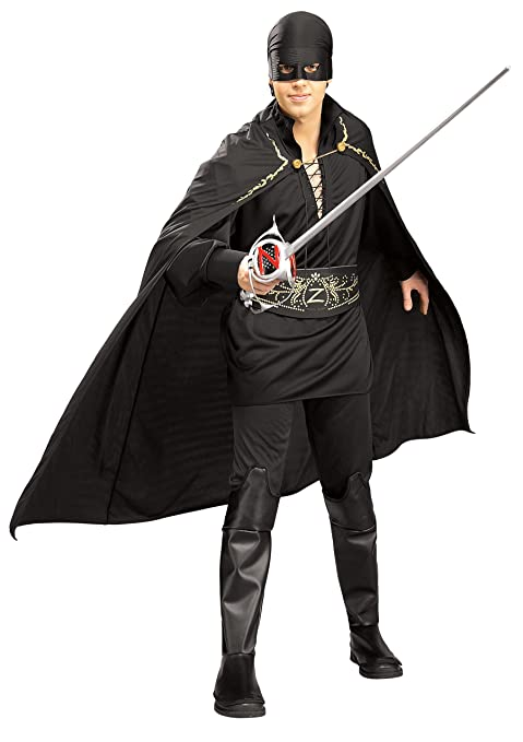 Costume di Carnevale da Zorro, per uomo