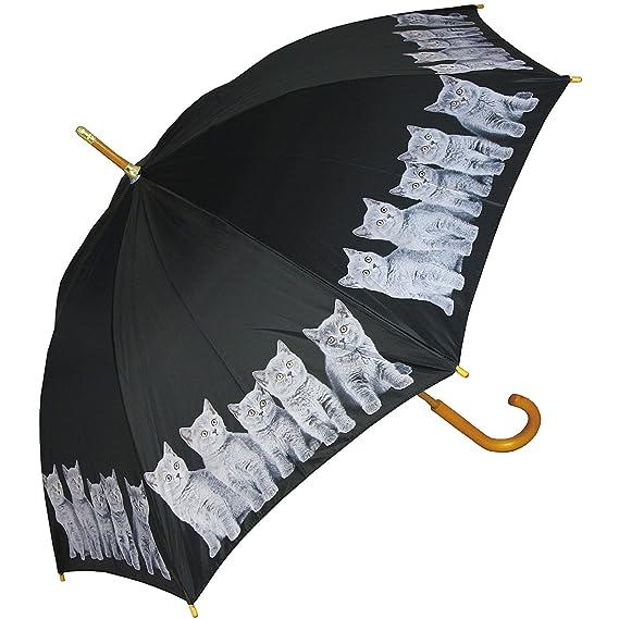 PealRa Grey Cats Umbrella