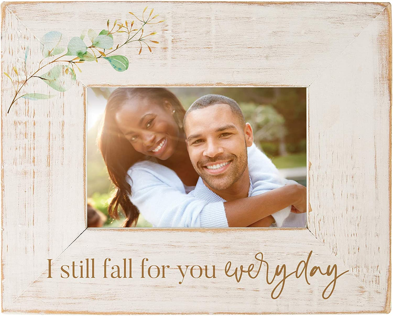 P. Graham Dunn Fall You Everyday Distressed Cream 9.875 x 7.75 Pine Wood Tabletop Photo Frame