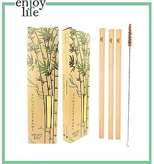 20 pajitas de bambú 100% biodegradables de madera de bambú natural ...