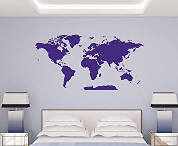 Amazon.com: World Map Decal - Extra Large & Easy to Apply ... on map frame, map tile, map accessories, map tube, map guide, map design, map panel, map stencil, map clock, map engraving, map paper, map emblem, map clip, map decor, map tool, map wallpaper, map graphics, map of ireland counties, map laptop stickers,