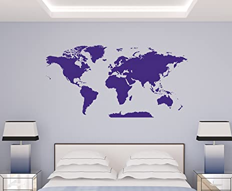Amazon world map decal extra large easy to apply vinyl wall world map decal extra large easy to apply vinyl wall decor removable earth gumiabroncs Choice Image