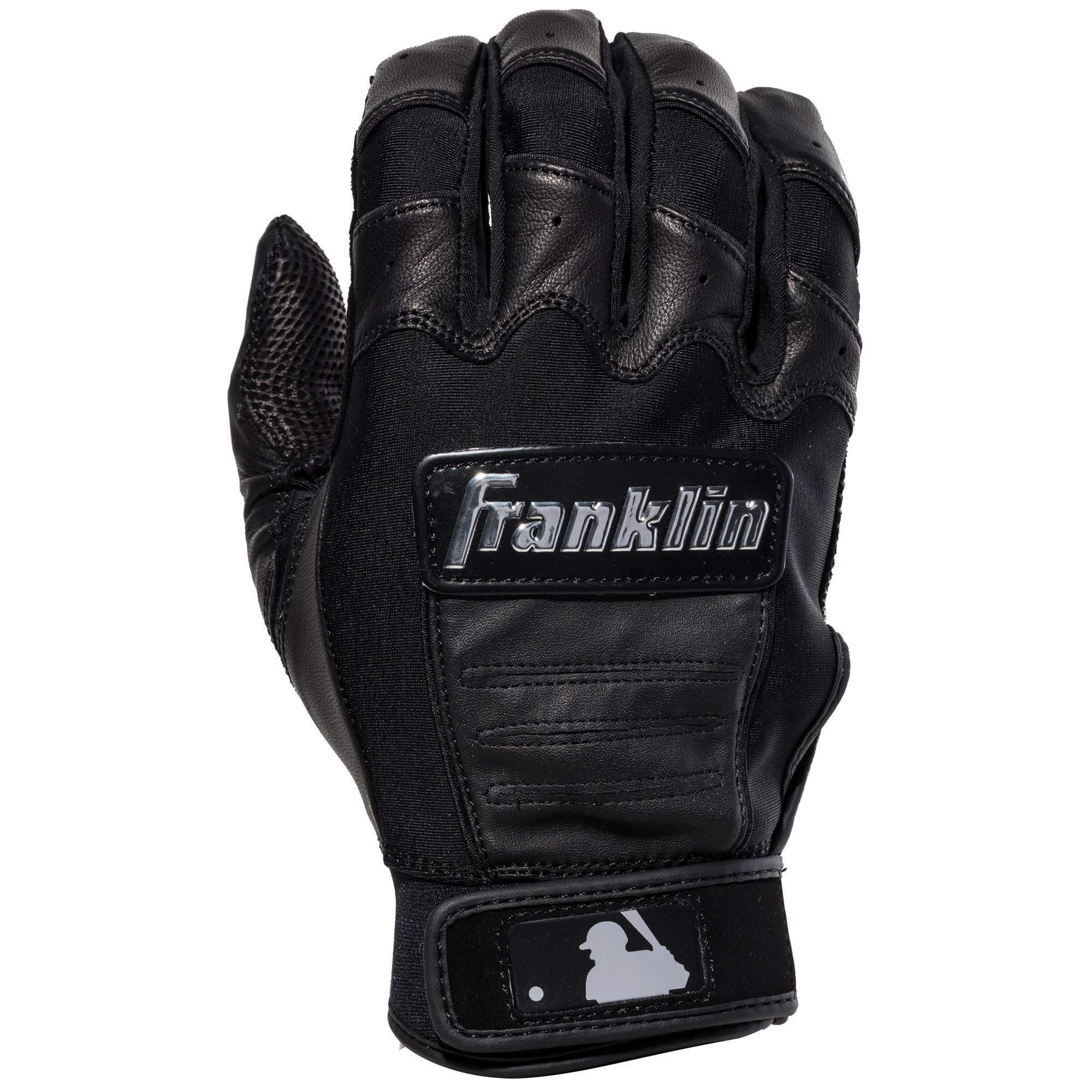 Franklin Sports CFX Pro Full Color Chrome Series Batting Gloves CFX Pro Full Color Chrome Batting Gloves, Black, Adult Small by Franklin Sports (Image #2)