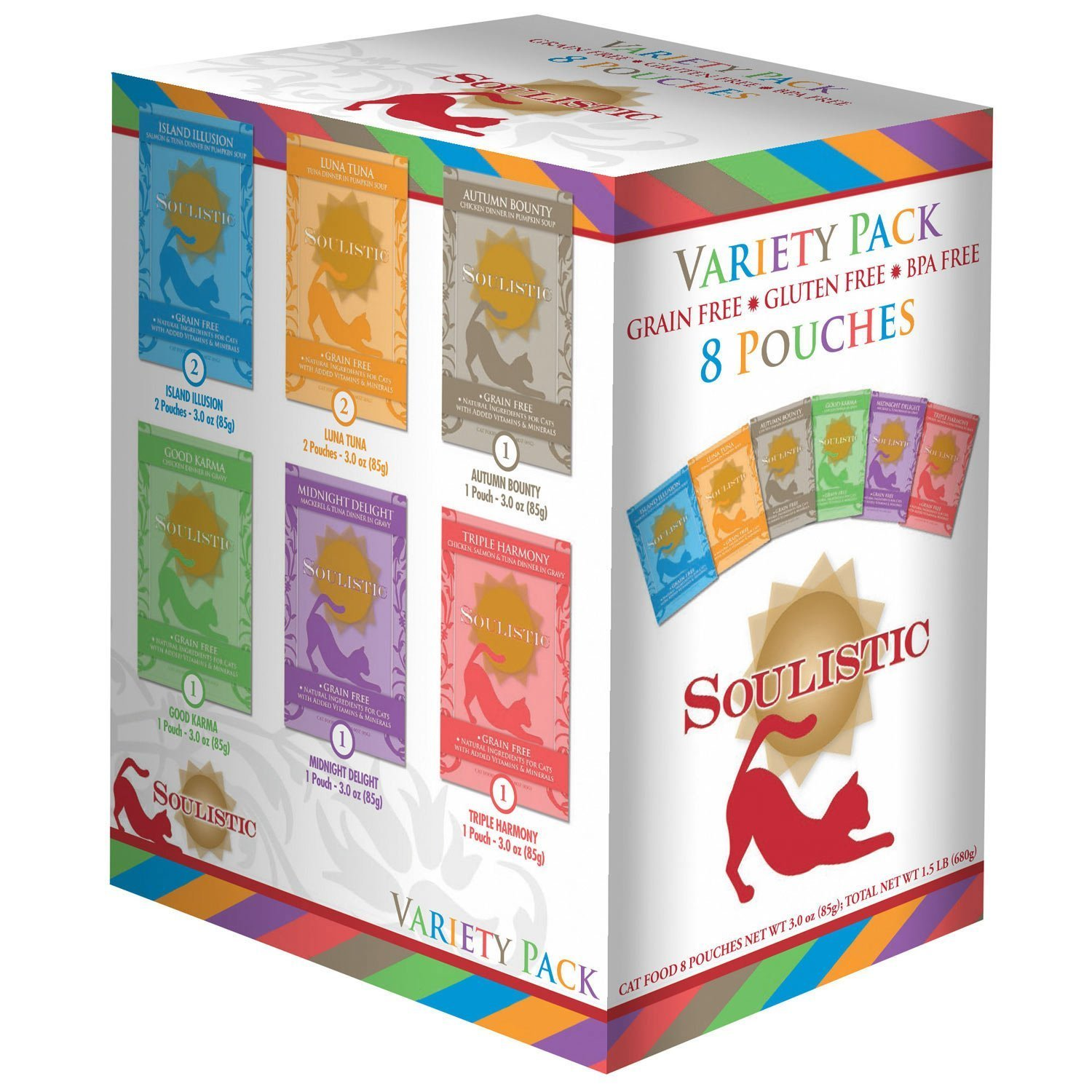 Soulistic Variety Pack Adult Cat Food Pouches by Soulistic
