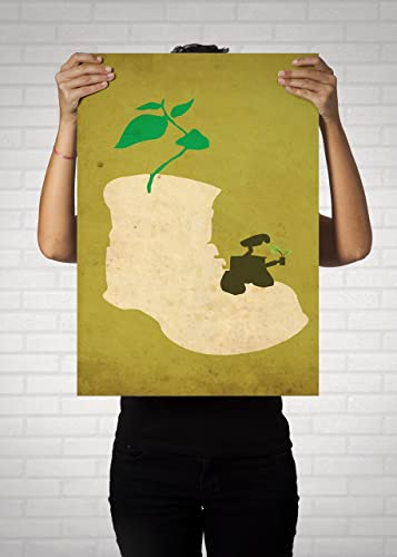 Wall E Minimalist Poster // Disney Pixar Movie Poster // Vintage ...