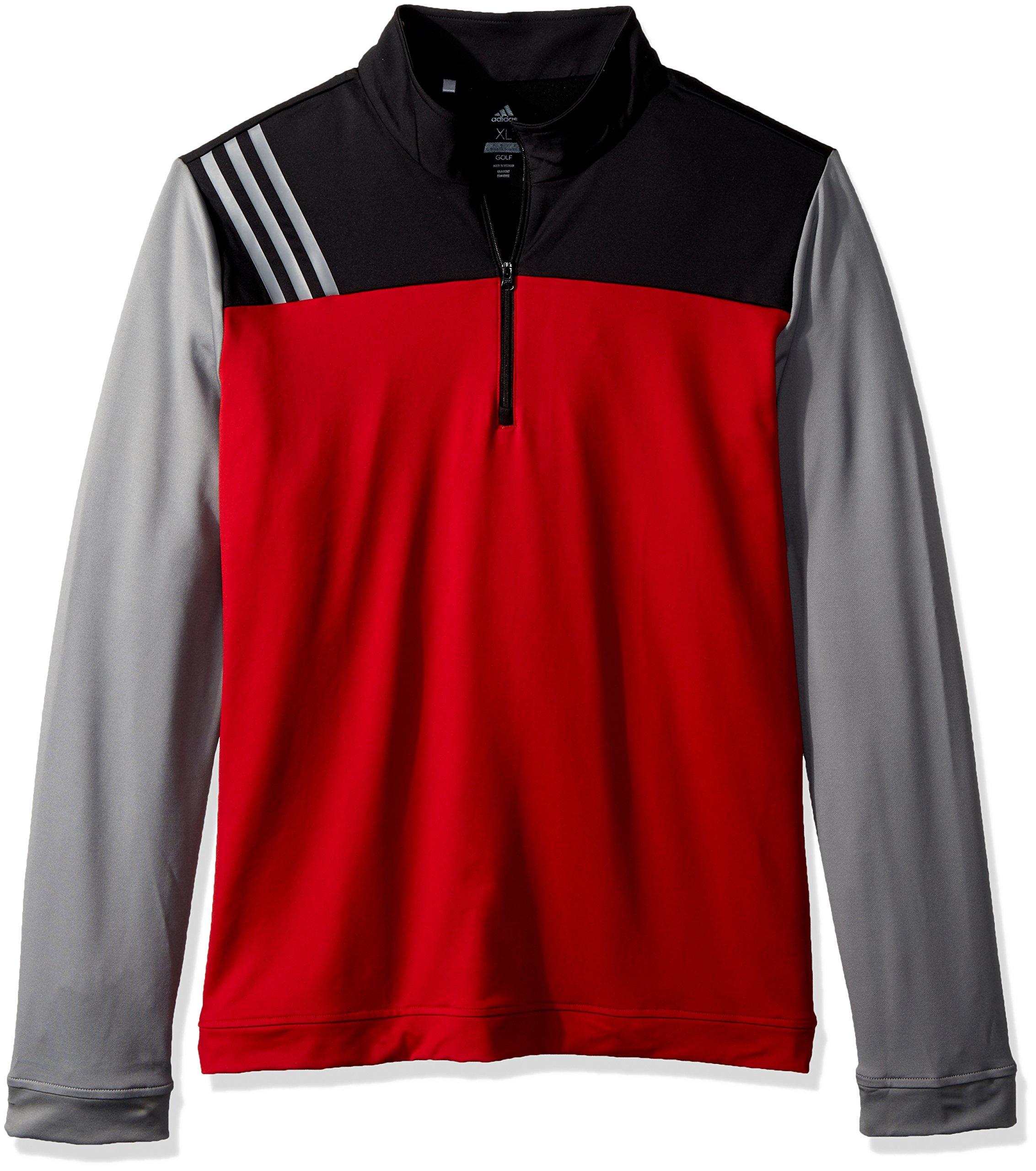 adidas Golf 3-Stripe Layering Jacket, Power Red, Small