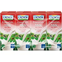 Lacnor Liquid Essentials Milk Full Cream - 180 ml x 8
