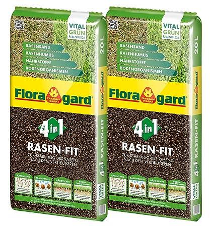 Top Floragard 4 in 1 Rasen-Fit 2x20 L für 20 m² • Rasenerde &FH_74
