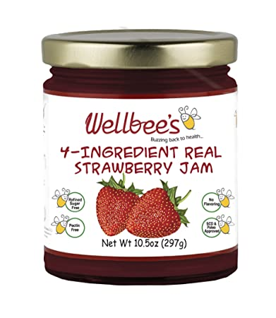 Amazon. Com: wellbee's real strawberry jam refined sugar free.
