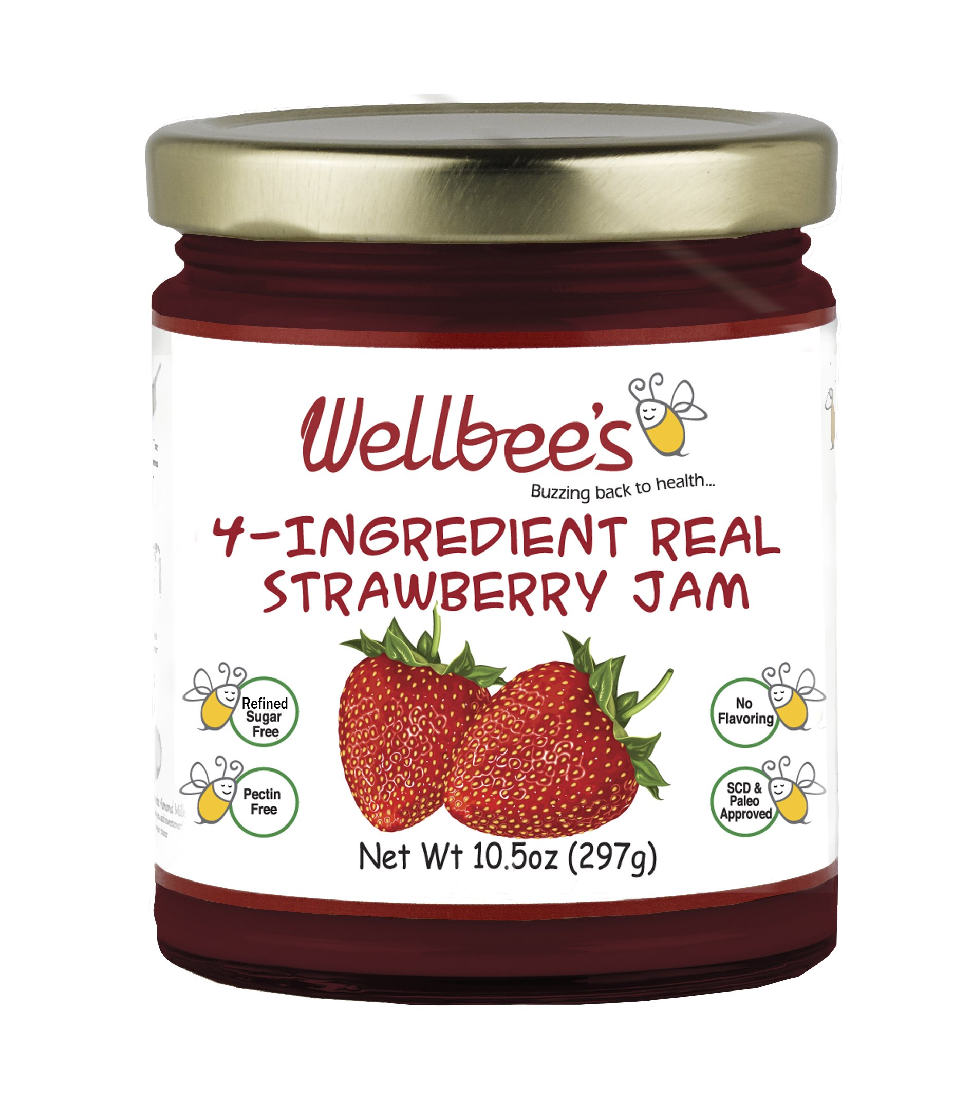 Wellbee's Real Strawberry Jam - Refined Sugar Free & Preservative Free by Wellbee's