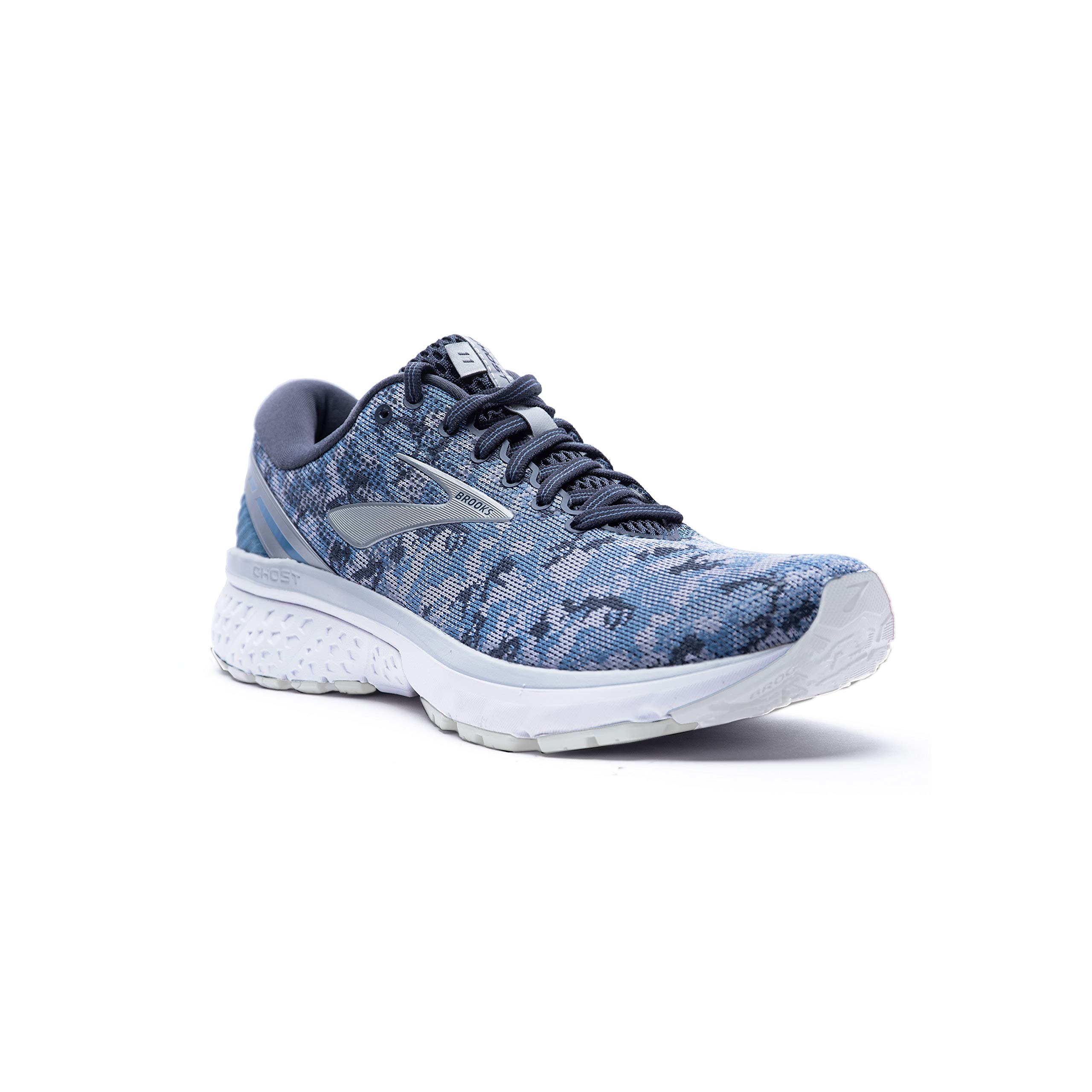 Brooks Womens Ghost 11 Running Shoe - Blue/Dark Grey/Oyster - B - 7.5 by Brooks